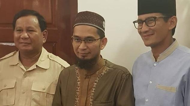 Setelah Ustaz Abdul Somad, Giliran Ustaz Adi Hidayat Dukung Prabowo-Sandi