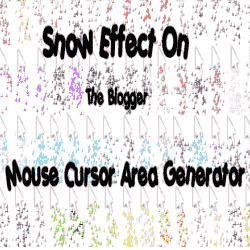 How To Add Snow Effect On The Blogger Mouse Cursor Area - Blogspot