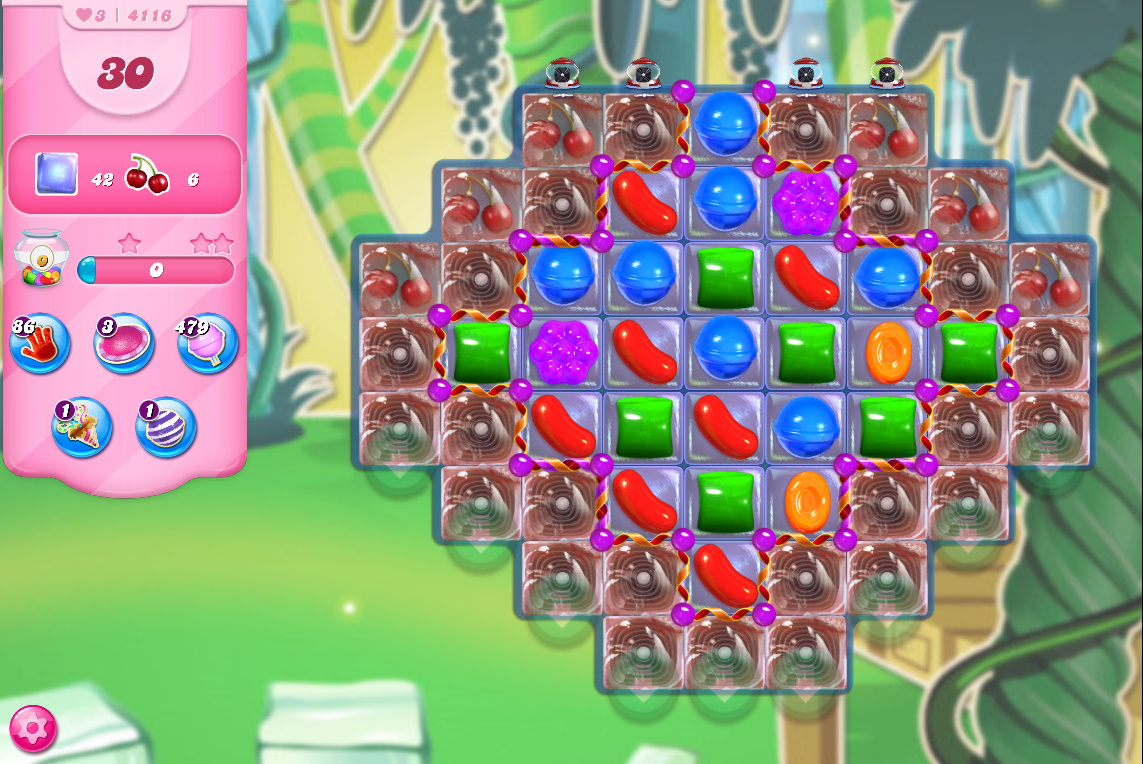 Candy Crush Saga level 4116