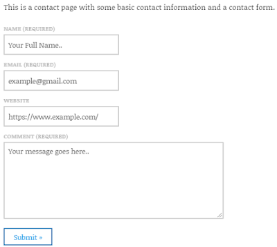 Add contact us form to wordpress