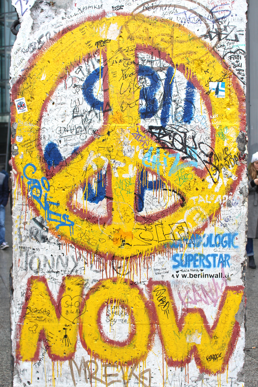 Peace now sign on The Berlin Wall - travel & lifestyle blog