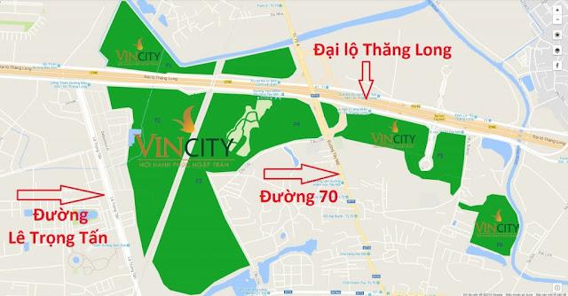 vị trí vincity tây mỗ