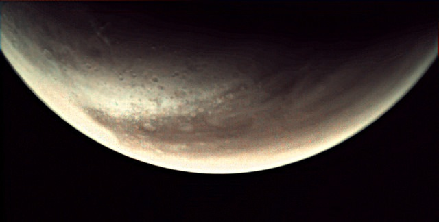 An image of Mars taken by 'webcam' on Mars Express spacecraft. Credit: ESA
