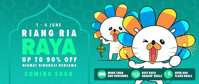 Lazada Riang Ria Raya 1 - 4 Jun 2018 ; Nikmat DiKongsi Bersama