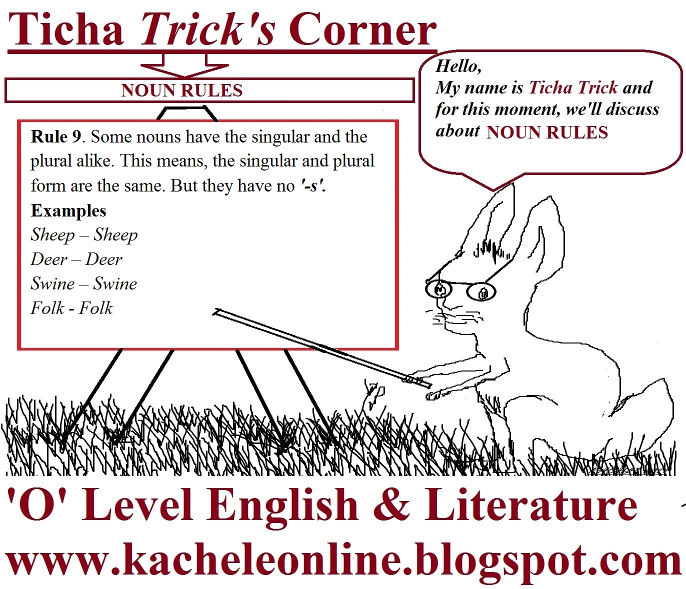 O' Level English Blog: Join 'TICHA TRICK' to discuss the NOUN RULE ...