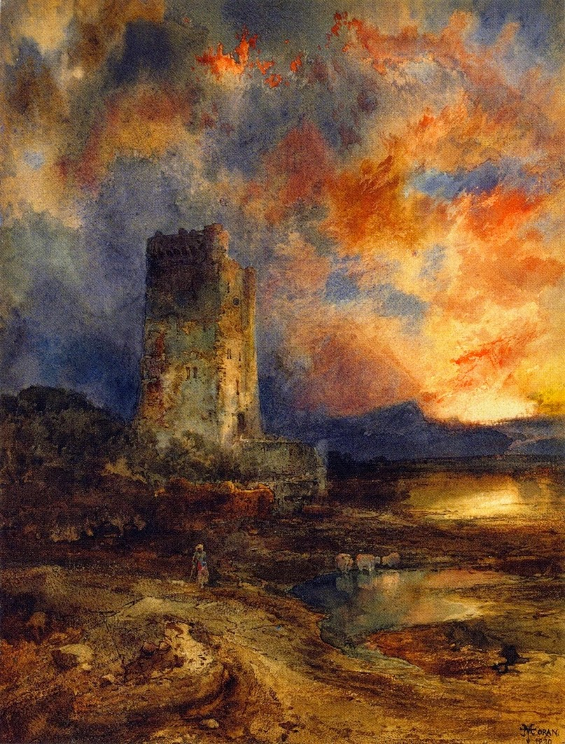 Thomas Moran - Sunset on the Moor, 1880