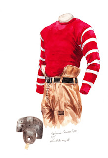 1915 Alabama Crimson Tide football uniform original art for sale