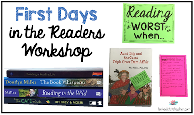 First Days in the Readers Workshop