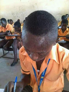WTF! See how profusely this boy was sweating during an Exam