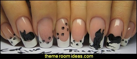 animal themed nails - animal themed nail designs - animal nail decals