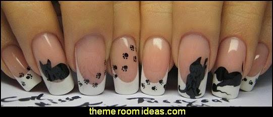 animal themed nails - animal themed nail designs - animal nail decals