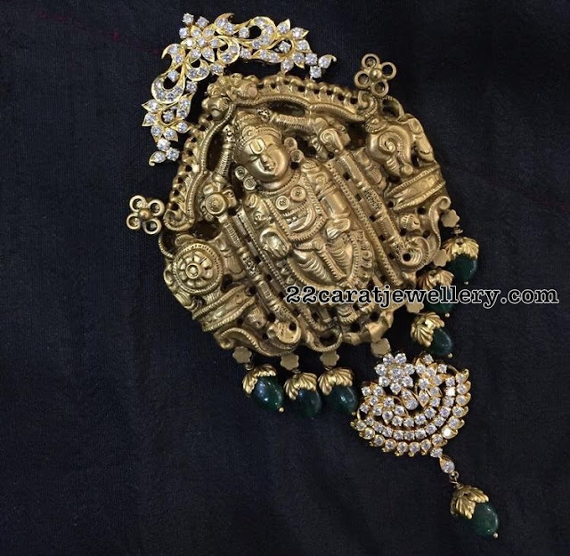 Balaji Pendant with Diamonds