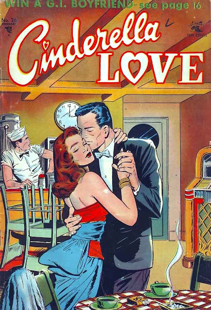 Cinderella Love v2 #26 st.john romance comic book cover art by Matt Baker