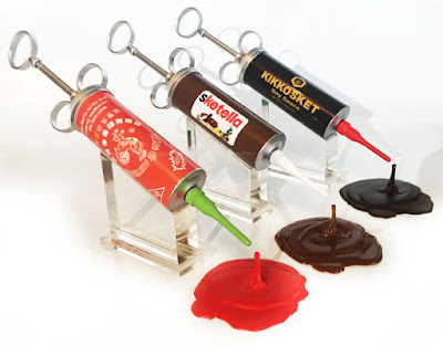 Condiment Junkie Resin Sculpture Series 2 by Sket One - Sketracha, Sketella & Kikkosket