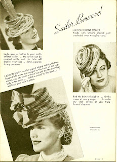 Vintage Crocheted Sailor Styled Hat Pattern