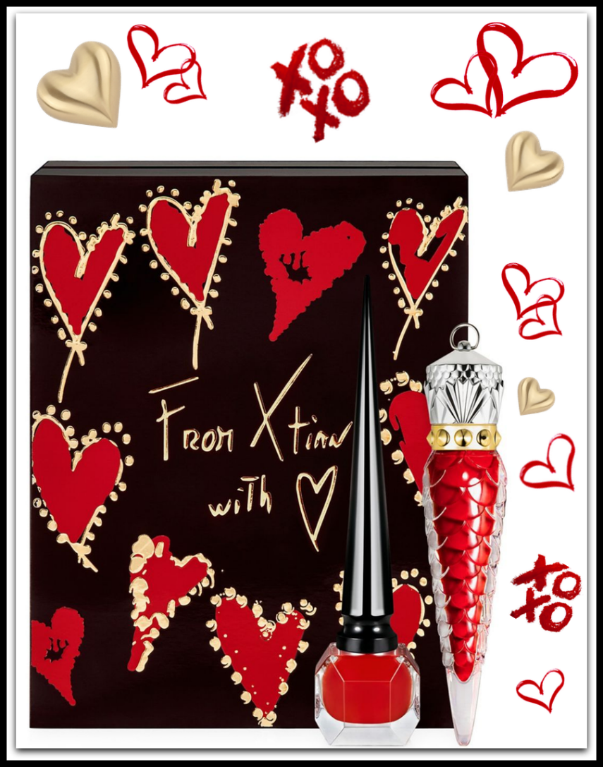 Christian Louboutin Loubivalentine's Coffret Rouge Louboutin Two-Piece Lips & Nails Set