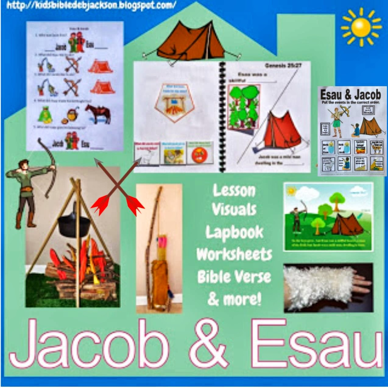 Bible fun for kids 1 8 genesis jacob esau for Jacob and esau crafts