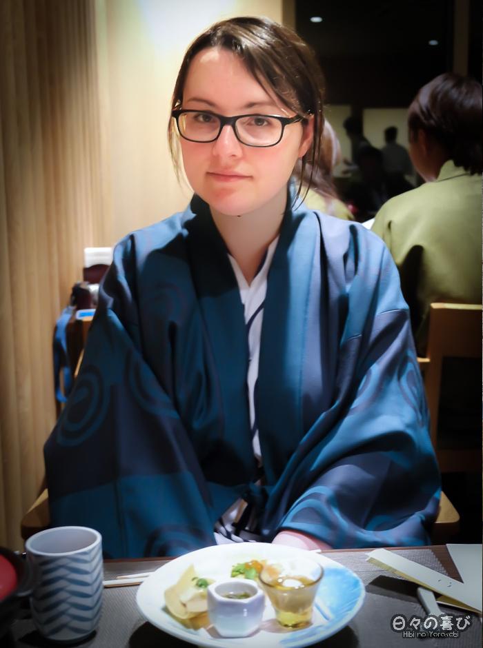 portrait Céci, dîner Kaiseki, Hakone Pax Yoshino