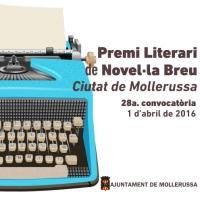 28è Premi de Novel·la Breu Ciutat de Mollerussa
