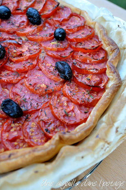 tarte aux tomates et amandes de Yotam Ottolenghi