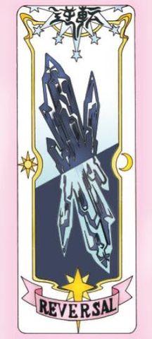 Reversal clear card