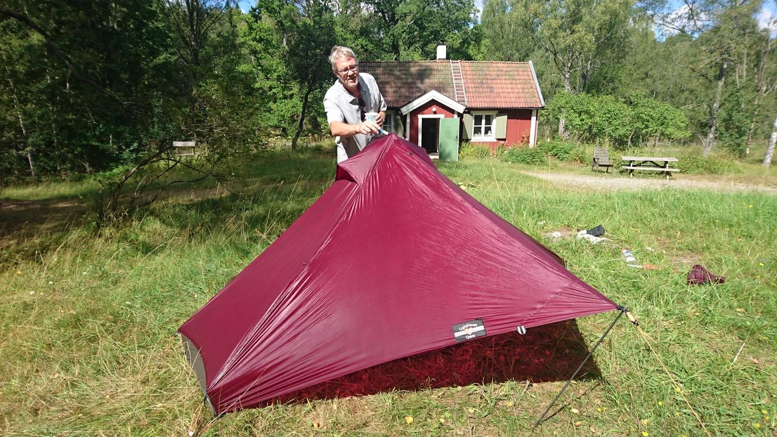 & Seam sealing a tent