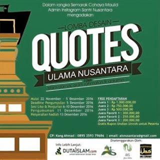 Lomba Desain Quotes Ulama Nusantara 2016.