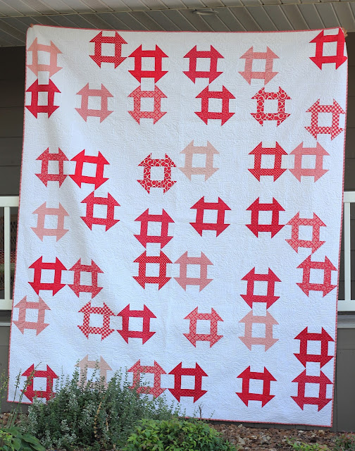 Churn Dash quilt using pattern from Modern One-Block Quilts
