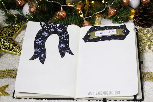 Bullet Journal 2017 december karácsonyi ajándék lista