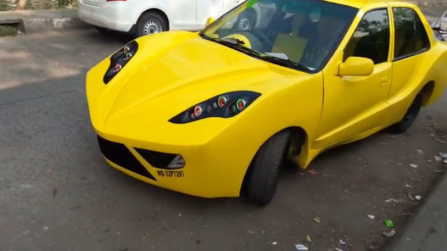 Maruti Esteem Modified like ferrari