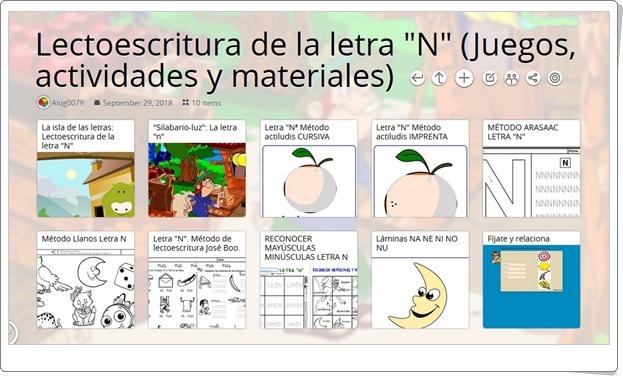 """""""10 Juegos, actividades y materiales para el aprendizaje de la LETRA N"""""""