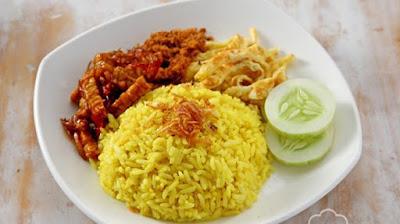 Resep Masakan Praktis Nasi Kuning