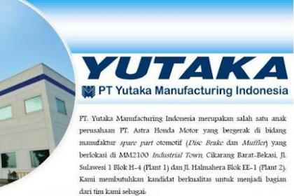 Lowongan Kerja Bekasi - Karawang 2018 di PT Yutaka Manufacturing Indonesia (YMI)