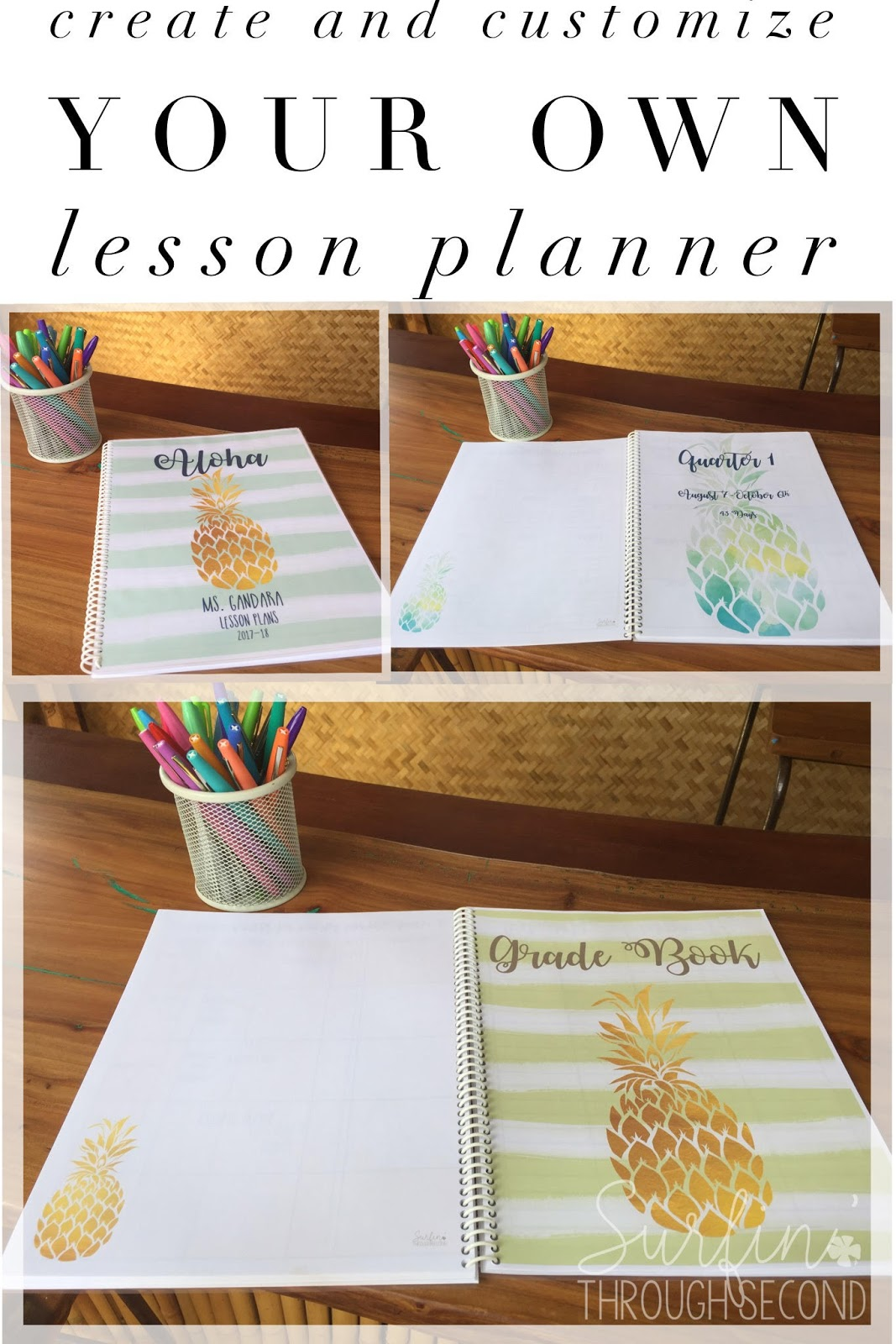 Creating Your Own Lesson Planner Surfin 39 Through Second