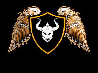Logo Polos Perisai Menggunakan Topeng Bertanduk