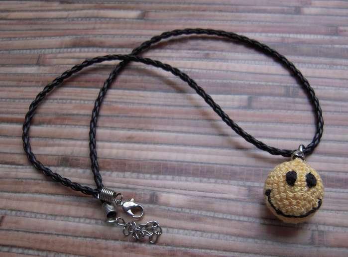 Inspiracion Colgante Crochet Smiley