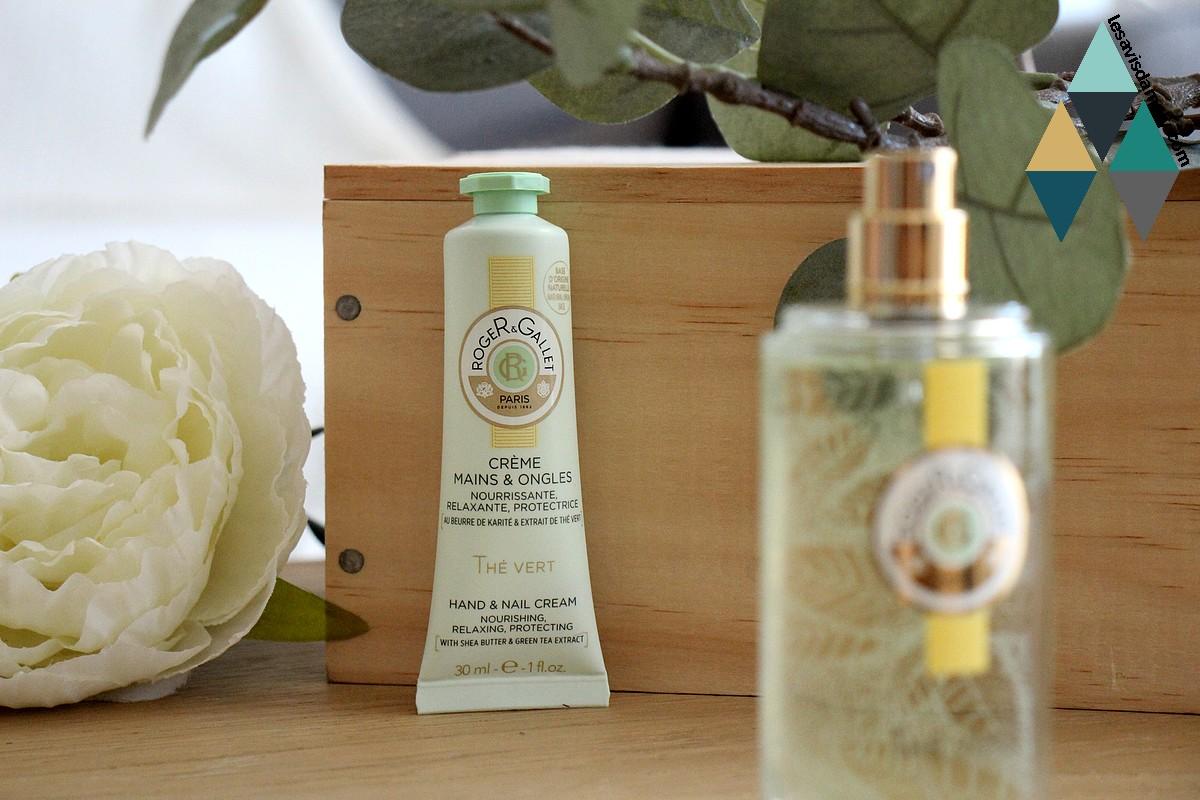 revue beauté soin hydratant crème mains et ongles thé vert roger gallet