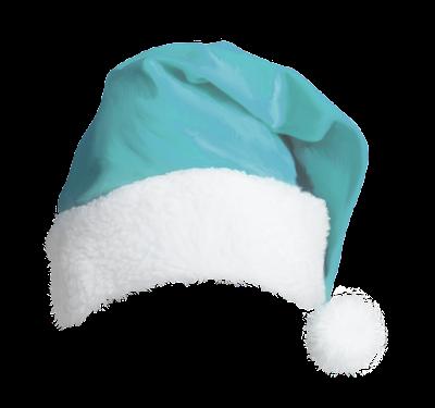 teal santa hat