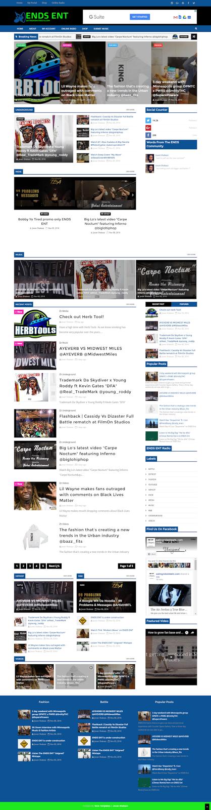 Music & Ent Publishing Site