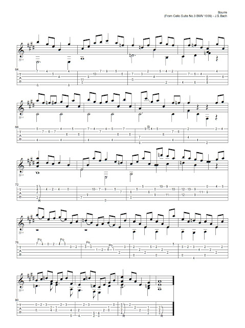 Johann Sebastien Bach - Bouree from Cello Suite N3