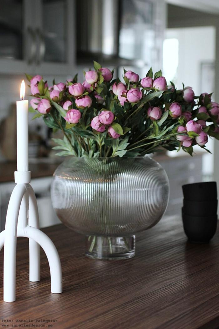 annelies design, webbutik, webbutik, pion, pioner, blommor, naturtrogna, blomma, verkligehtestrogna, konstgjorda, konstgjord, kök, sphere, vas, by on, arcus, ljusstake, ljusstakar,