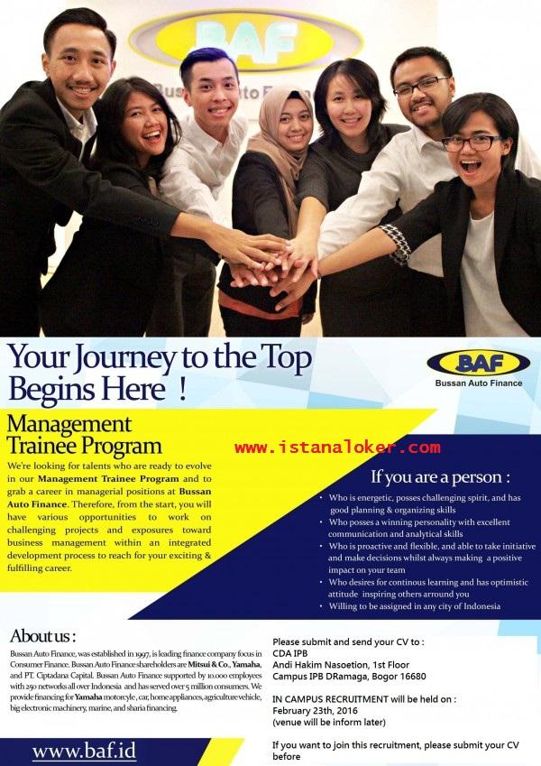 Lowongan Kerja Management Trainee