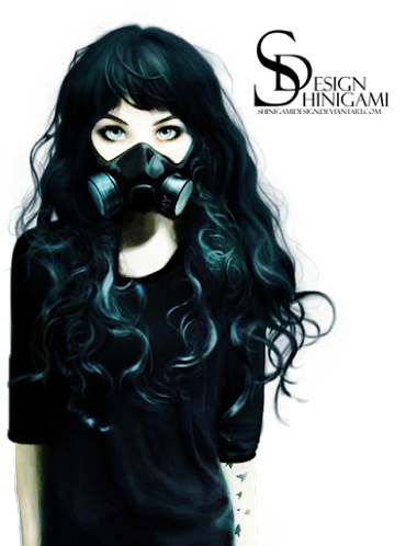 Gas Mask Girl - Render