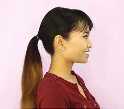 Infinity Bun hairstyle tutorial setp 2