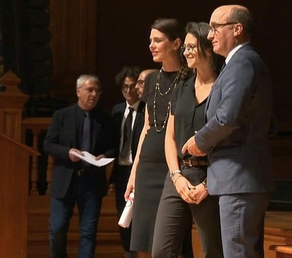 Princess Caroline and Charlotte Casiraghi attended the award ceremony of the Philosophical Encounters 2019. Dimitri Rassam