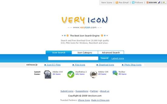 Situs Penyedia Icon Gratis Very Icons