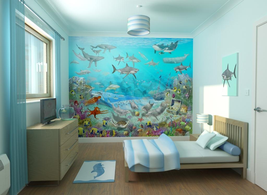 Bedroom Ideas Modern Bedroom Wallpaper One Wall
