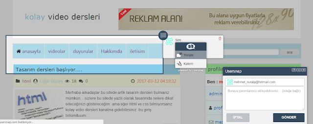 web site kod ekle