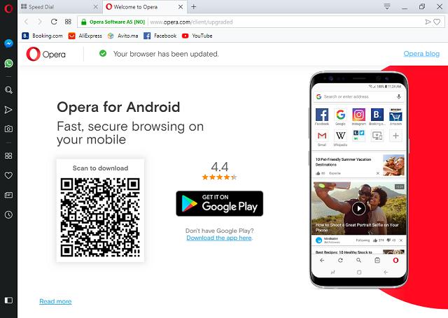 تحميل متصفح مواقع الويب Opera Browser Beta