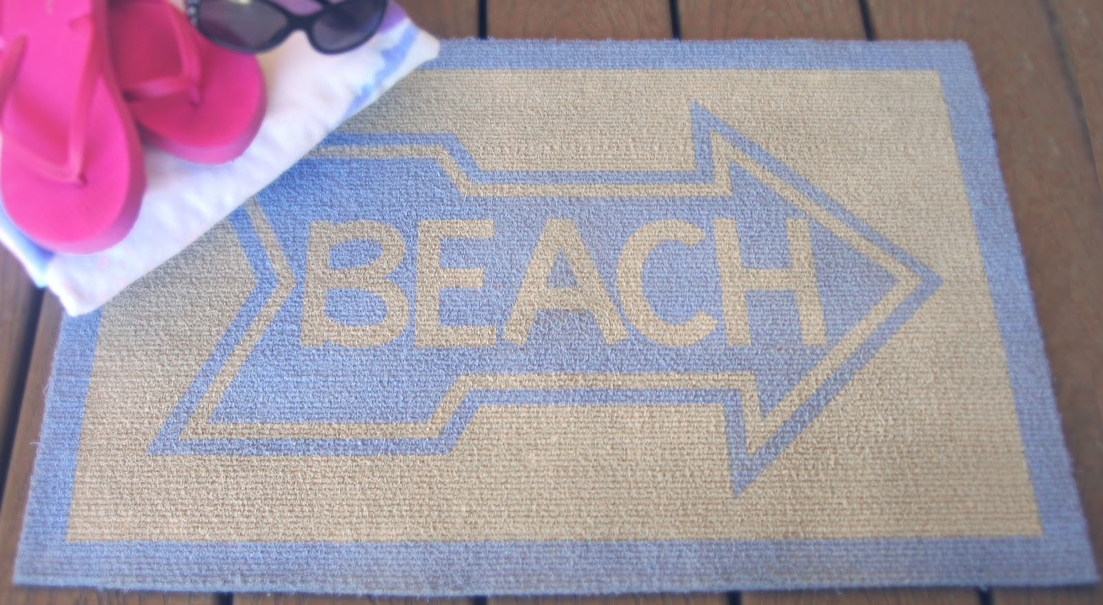 Painted Beach Door Mat Burton Avenue